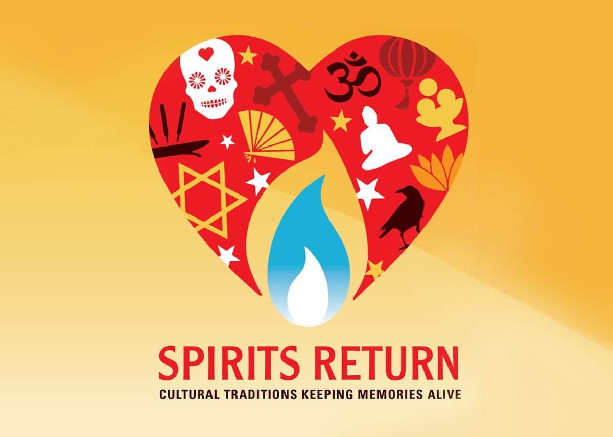 Spirits Return exhibit identity