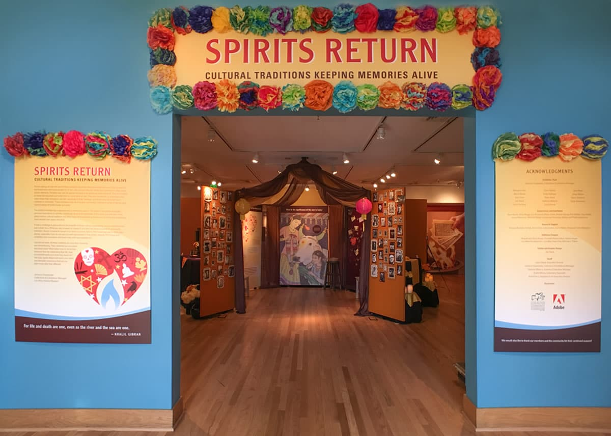 Spirits Return exhibit entry