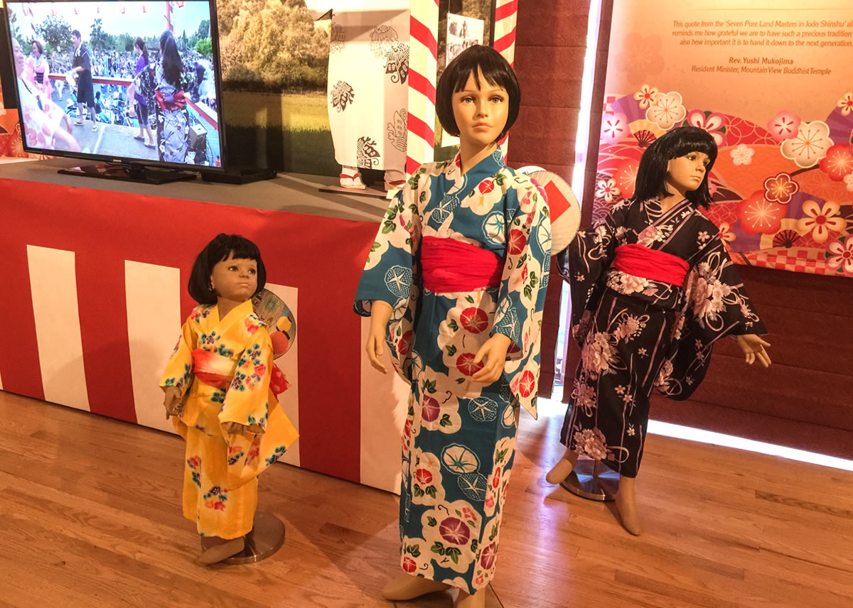 Obon Dancers by stage