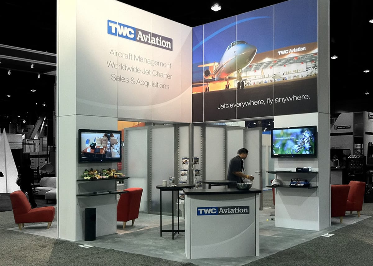 TWC Aviation trade show booth | NBAA