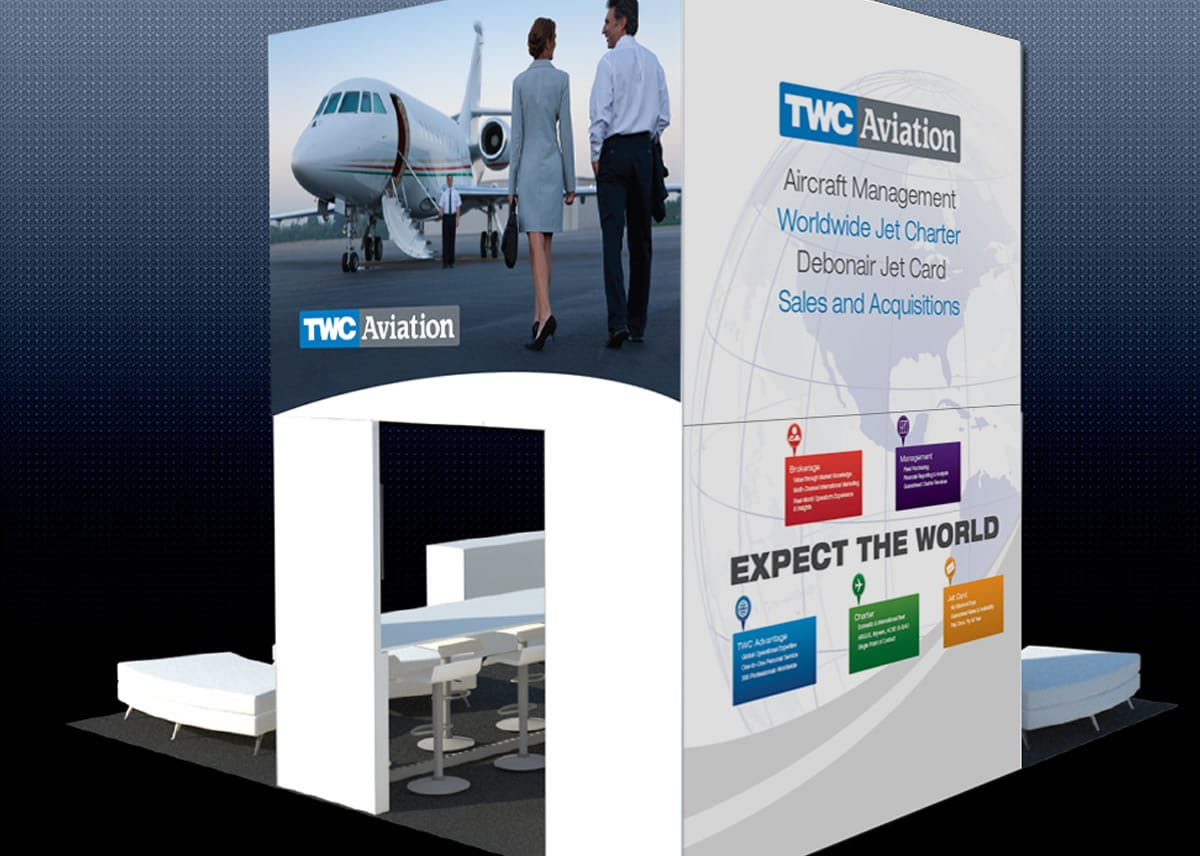TWC Aviation Trade Show Booth Back