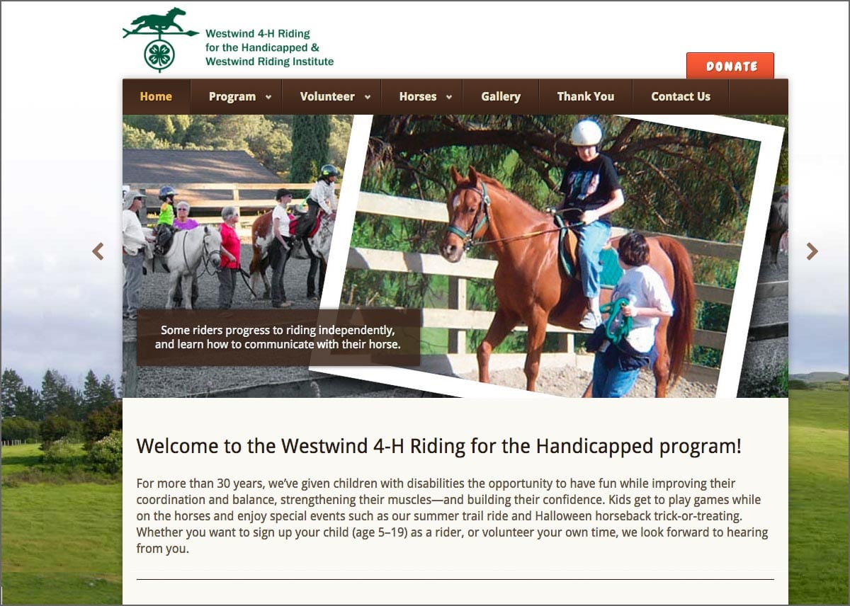 Westwind 4H Riding for the Handicapped Program